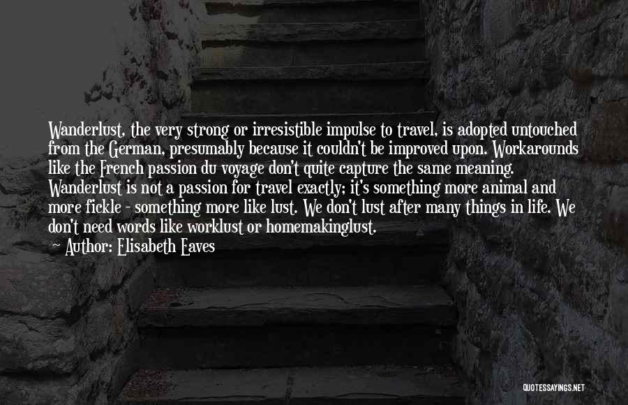 Life And It's Meaning Quotes By Elisabeth Eaves