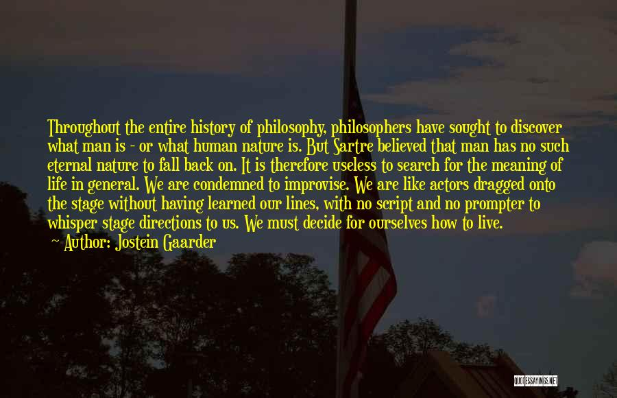Life And It's Meaning Quotes By Jostein Gaarder