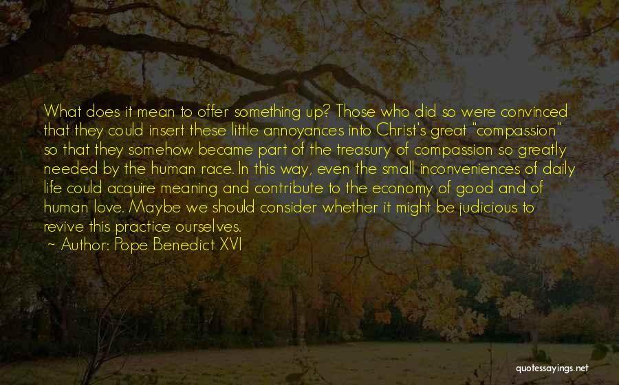 Life And It's Meaning Quotes By Pope Benedict XVI