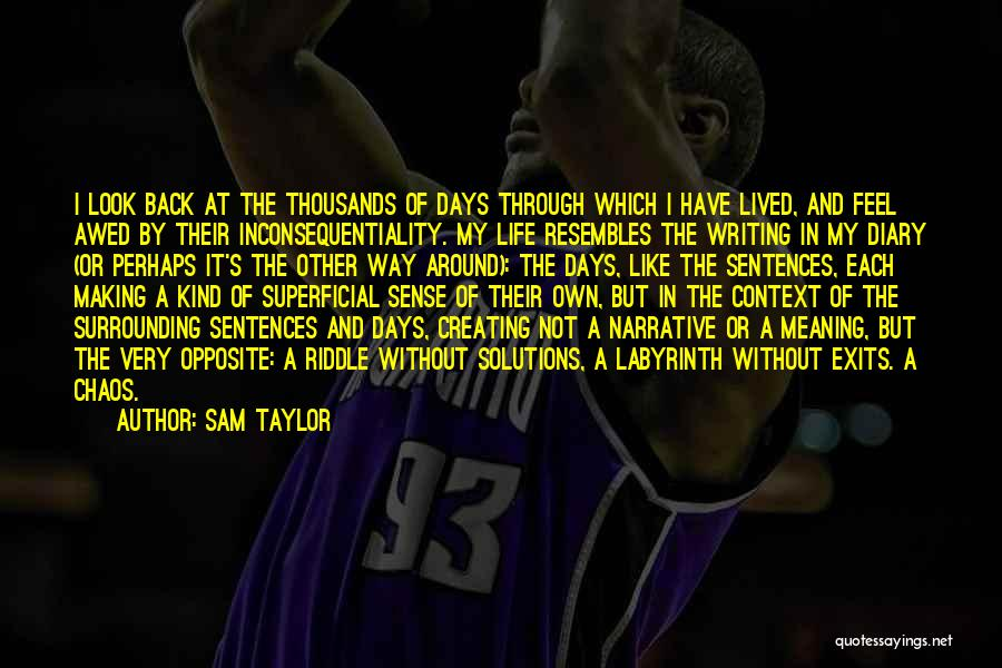 Life And It's Meaning Quotes By Sam Taylor