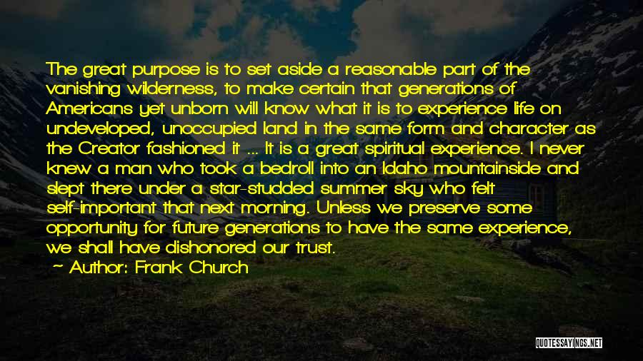Life As We Knew It Quotes By Frank Church