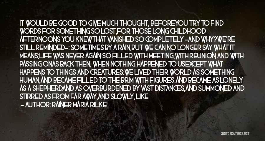 Life As We Knew It Quotes By Rainer Maria Rilke