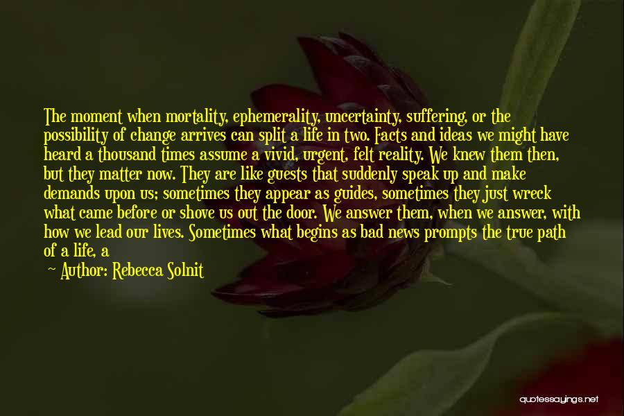 Life As We Knew It Quotes By Rebecca Solnit