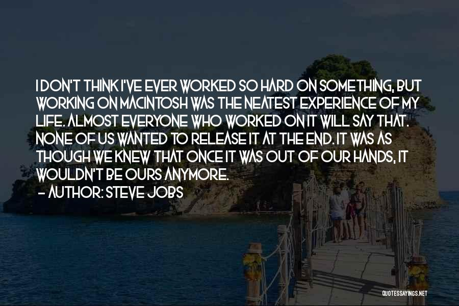 Life As We Knew It Quotes By Steve Jobs