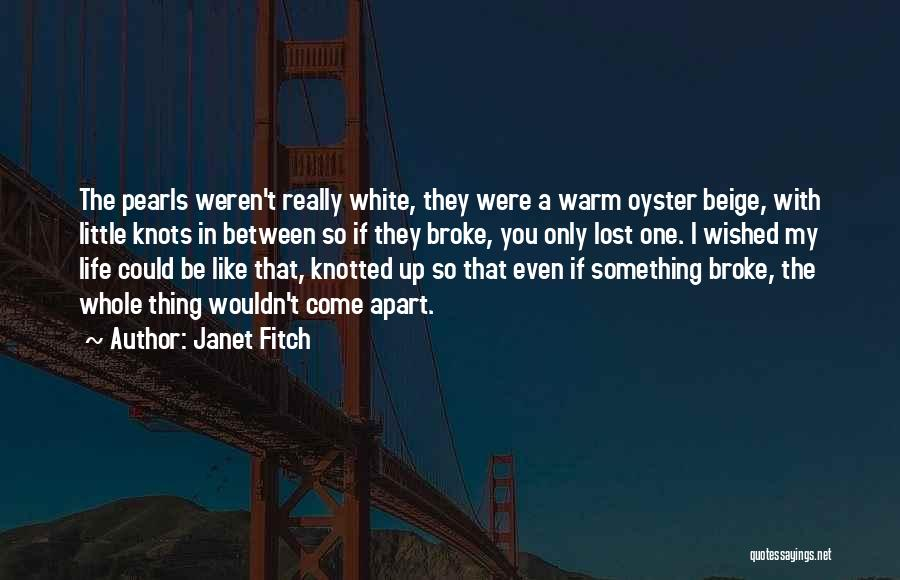Life Beige Quotes By Janet Fitch