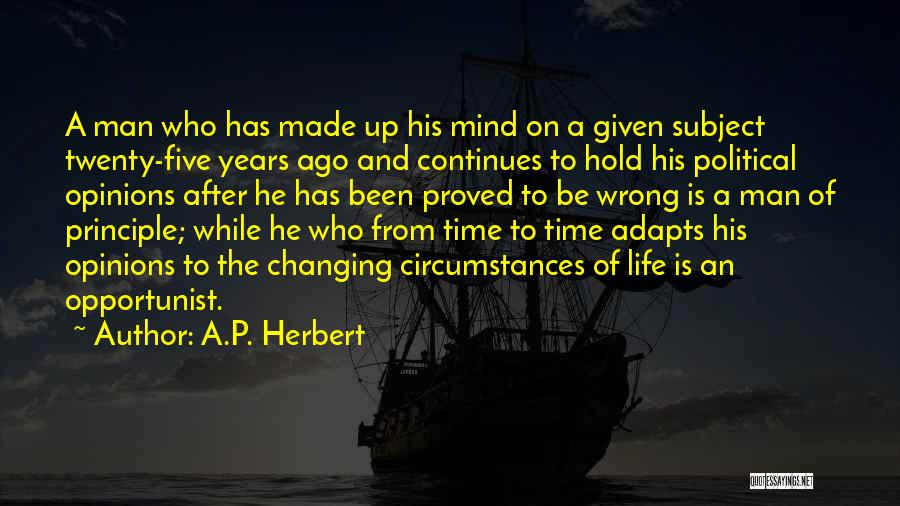 Life Changing For The The Best Quotes By A.P. Herbert