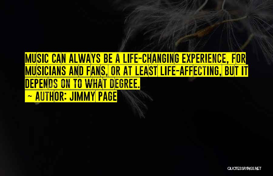 Life Changing Music Quotes By Jimmy Page