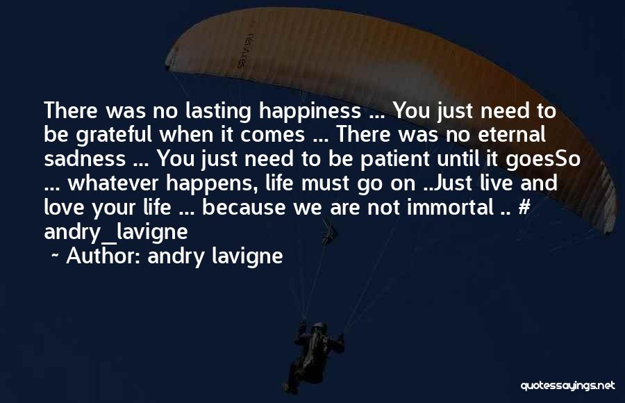 Life Comes And Goes Quotes By Andry Lavigne