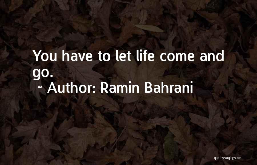 Life Comes And Goes Quotes By Ramin Bahrani