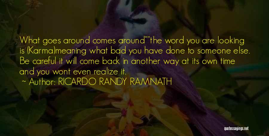 Life Comes And Goes Quotes By RICARDO RANDY RAMNATH