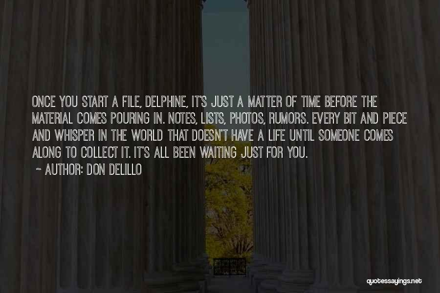 Life Comes Once Quotes By Don DeLillo
