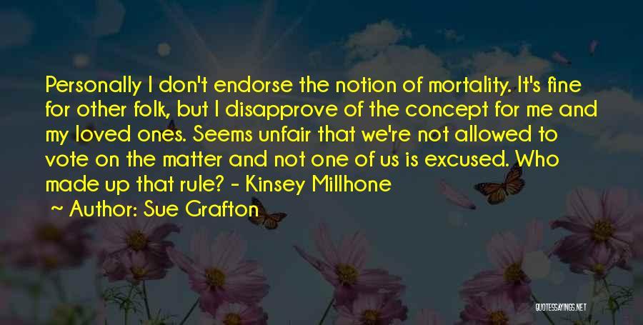 Life Concept Quotes By Sue Grafton