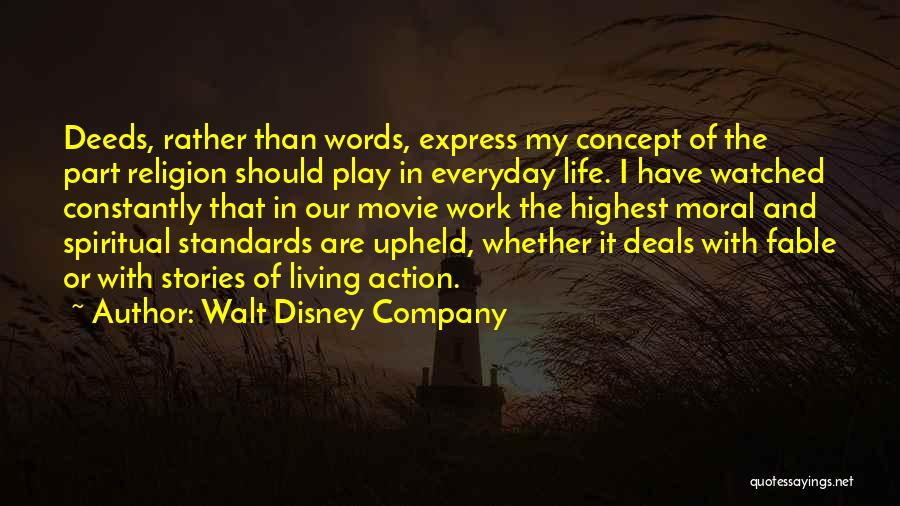 Life Concept Quotes By Walt Disney Company