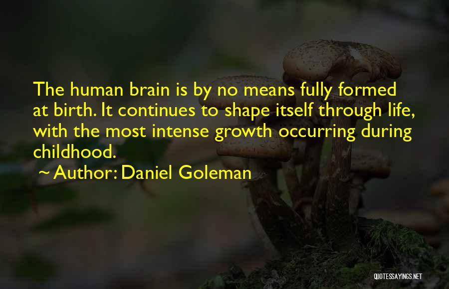 Life Continues Quotes By Daniel Goleman