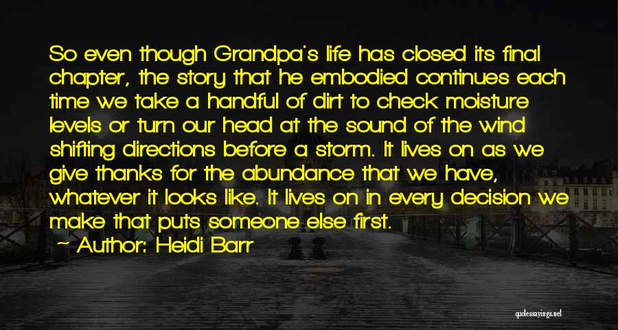 Life Continues Quotes By Heidi Barr