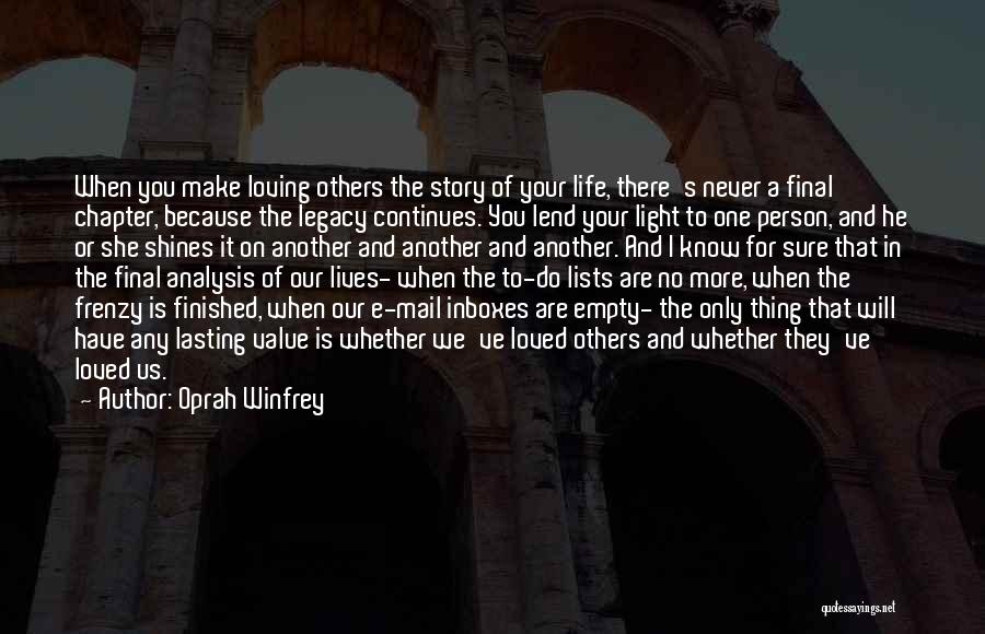 Life Continues Quotes By Oprah Winfrey