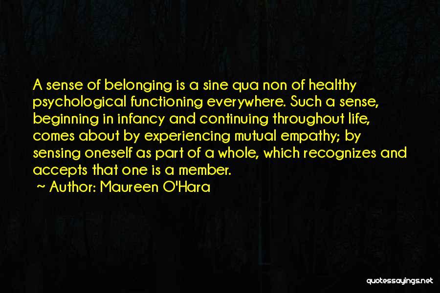 Life Continuing Quotes By Maureen O'Hara