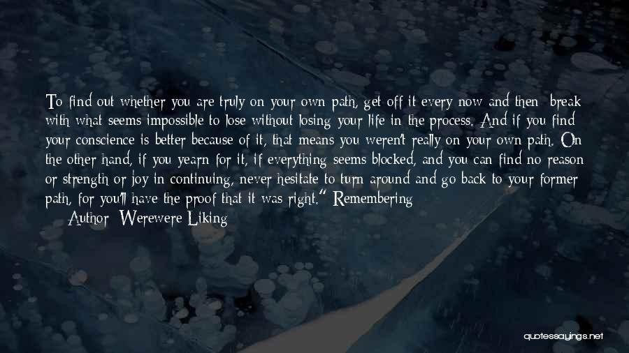Life Continuing Quotes By Werewere Liking
