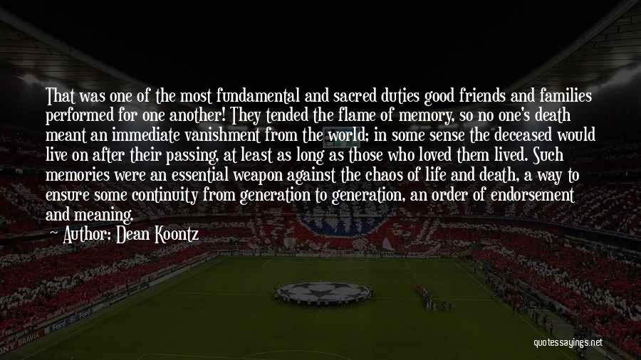 Life Death And Meaning Quotes By Dean Koontz
