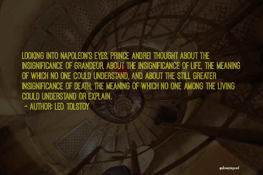 Life Death And Meaning Quotes By Leo Tolstoy