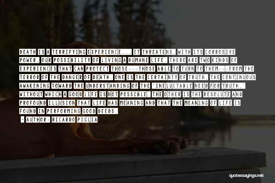 Life Death And Meaning Quotes By Ricardo Piglia