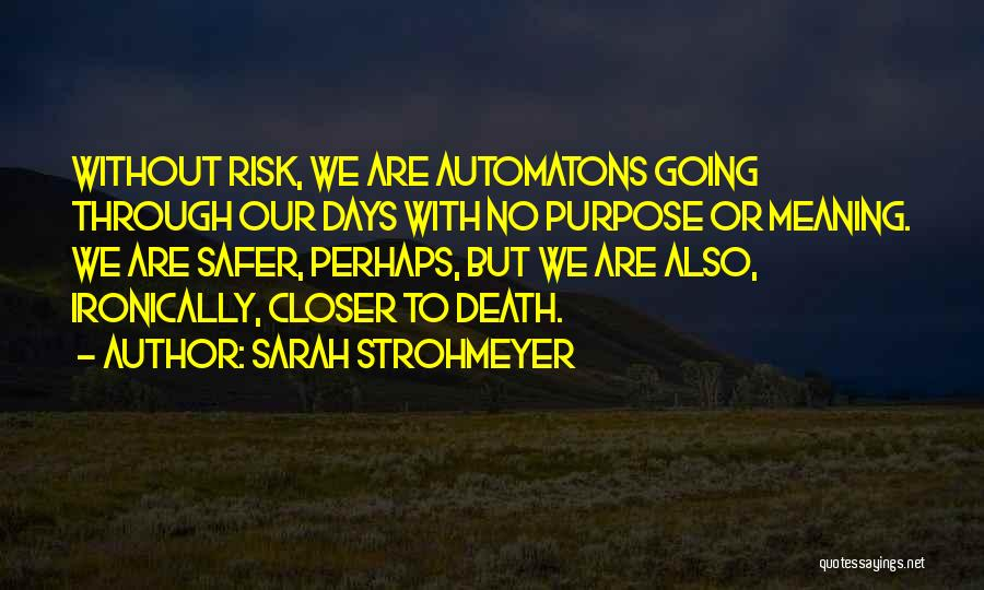 Life Death And Meaning Quotes By Sarah Strohmeyer