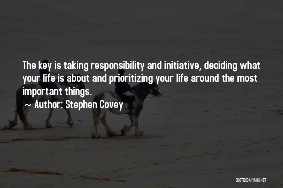 Life Deciding Quotes By Stephen Covey
