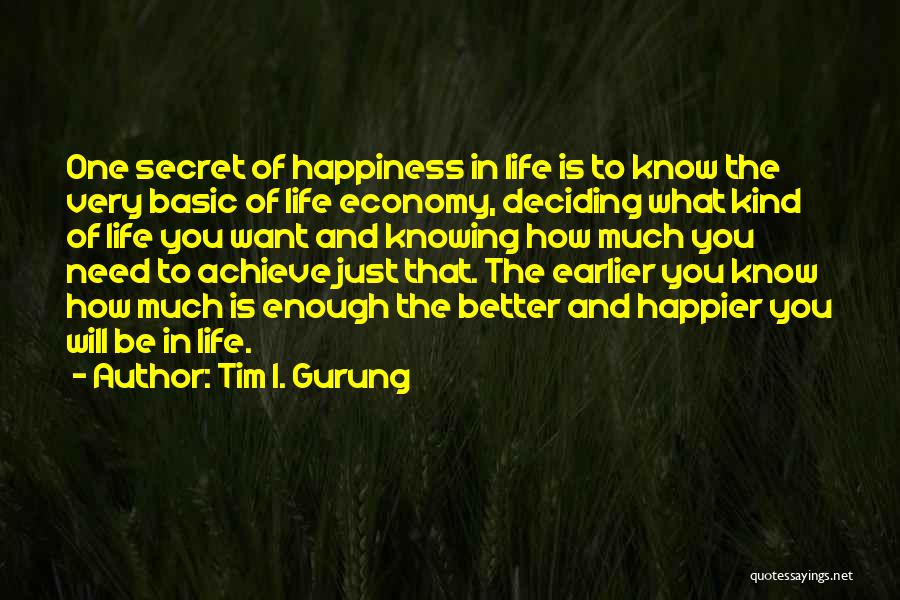 Life Deciding Quotes By Tim I. Gurung