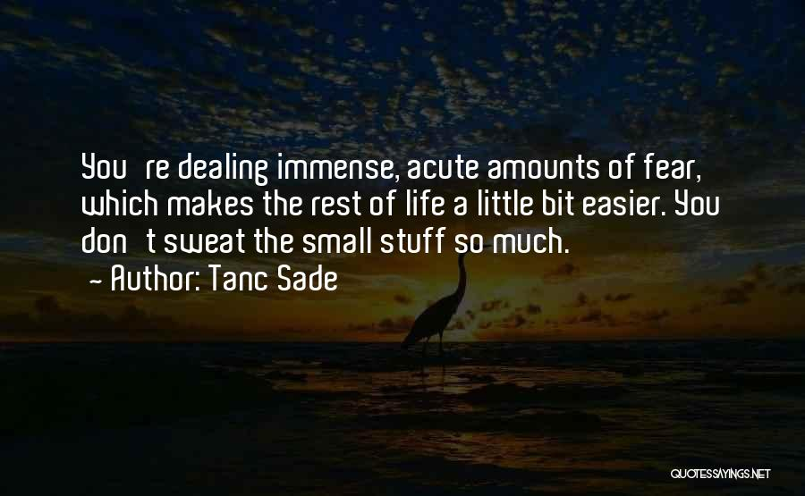 Life Don't Sweat The Small Stuff Quotes By Tanc Sade