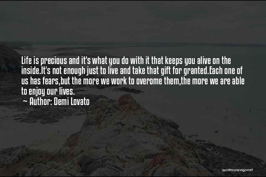 Life Fears Quotes By Demi Lovato