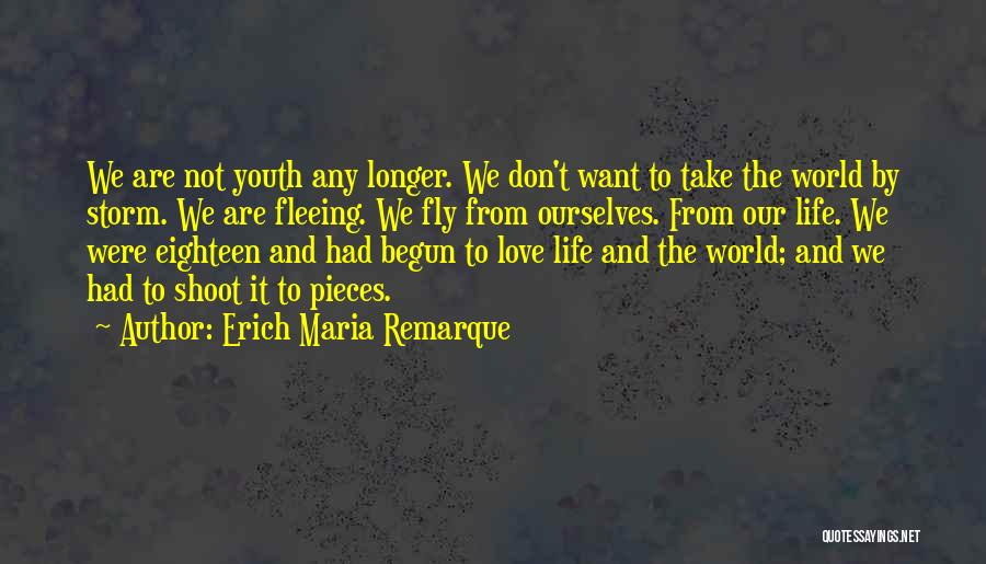 Life Fly By Quotes By Erich Maria Remarque