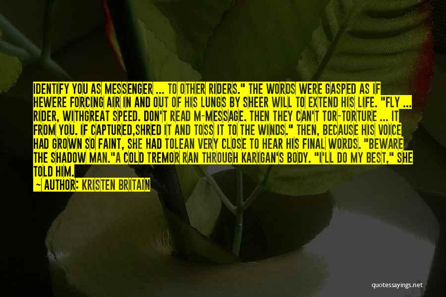 Life Fly By Quotes By Kristen Britain