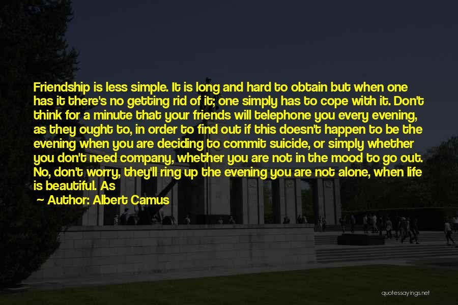 Life For Friends Quotes By Albert Camus