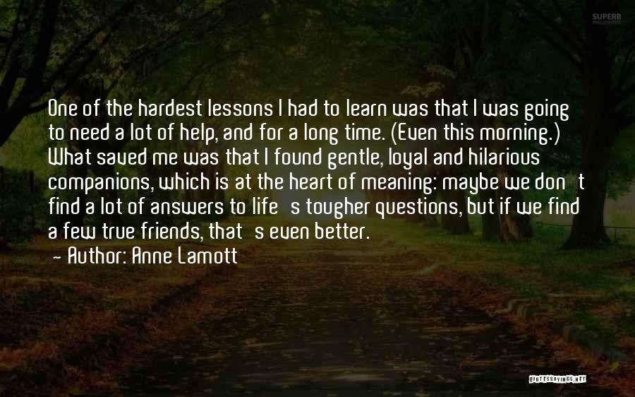 Life For Friends Quotes By Anne Lamott