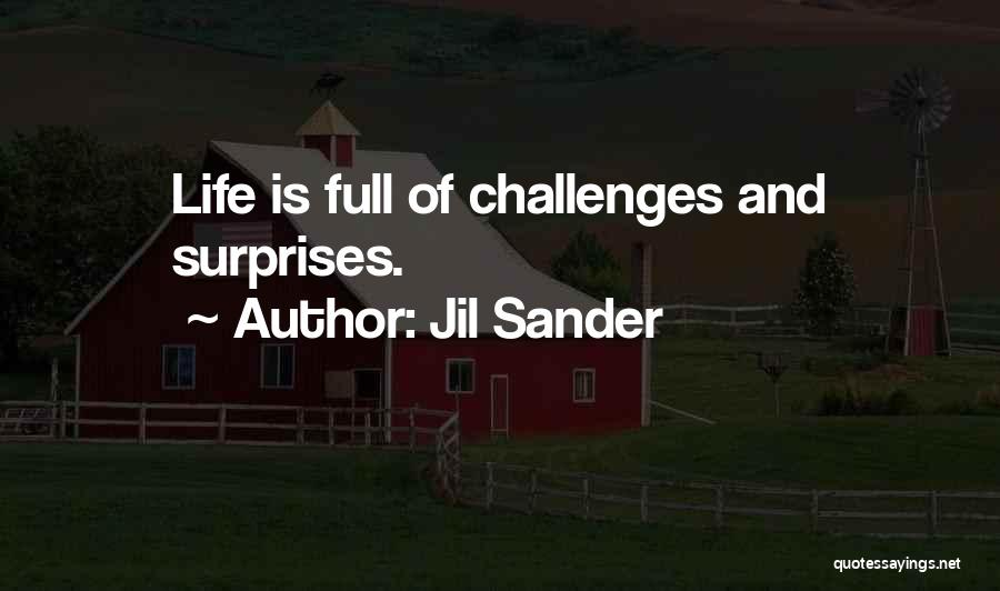 Life Full Of Surprises Quotes By Jil Sander