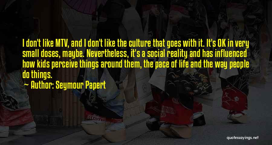 Life Goes Quotes By Seymour Papert