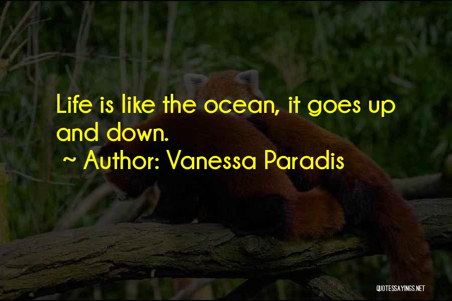 Life Goes Quotes By Vanessa Paradis