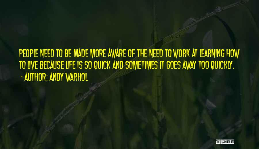 Life Goes So Quickly Quotes By Andy Warhol