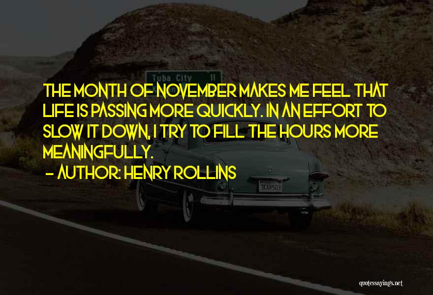 Life Goes So Quickly Quotes By Henry Rollins