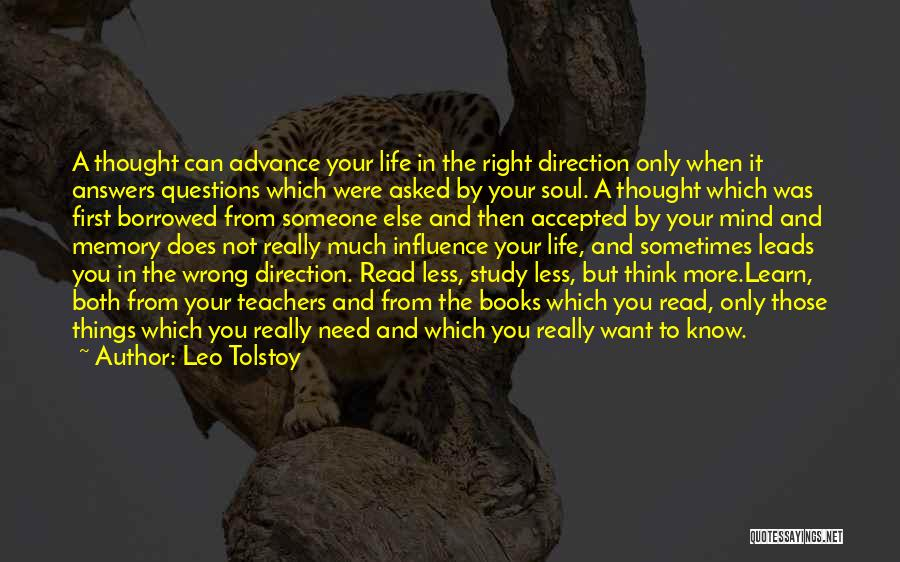 Life Going In The Right Direction Quotes By Leo Tolstoy