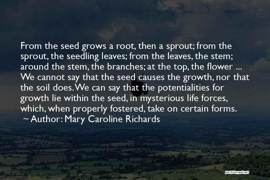 Life Grows Quotes By Mary Caroline Richards