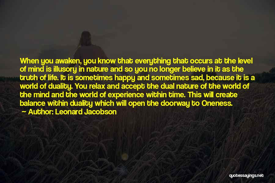 Life Happy And Sad Quotes By Leonard Jacobson