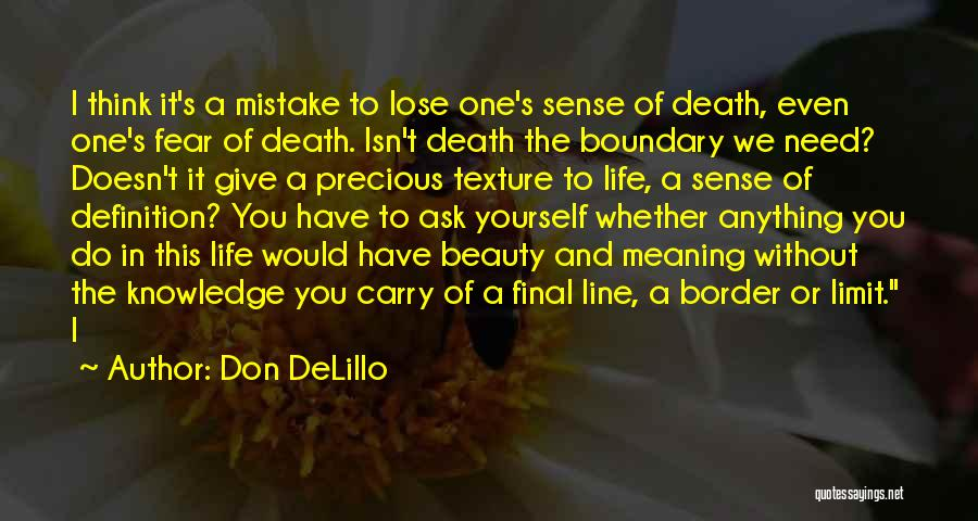 Life Has No Limit Quotes By Don DeLillo