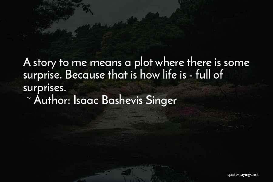 Life If Full Of Surprises Quotes By Isaac Bashevis Singer