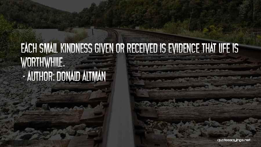 Life Inspirational Quotes By Donald Altman