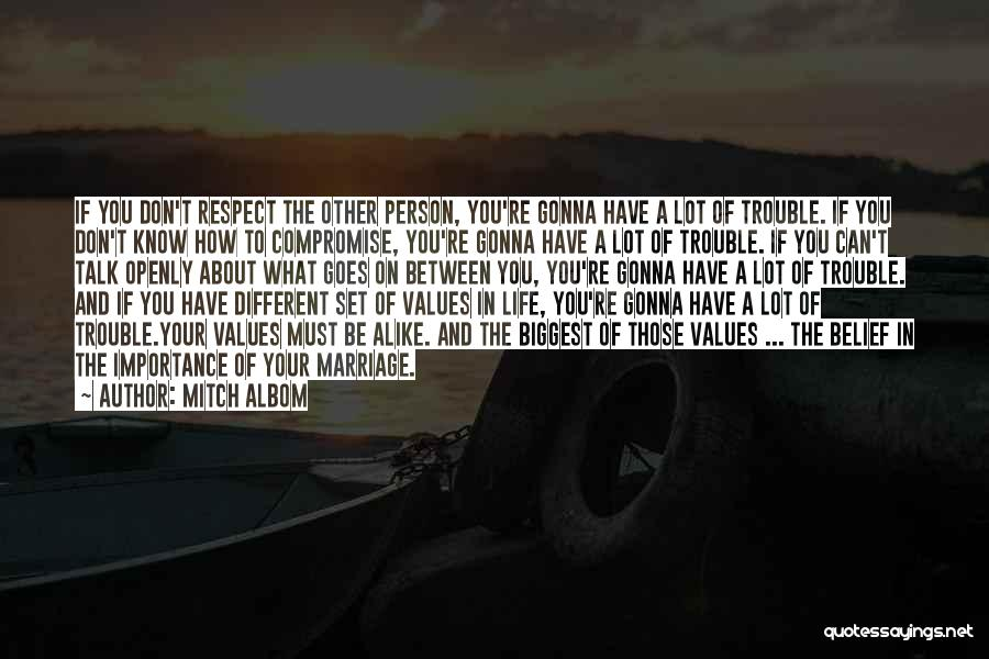 Life Is All About Compromise Quotes By Mitch Albom