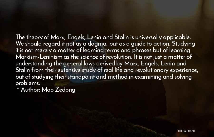 Life Is Learning Experience Quotes By Mao Zedong