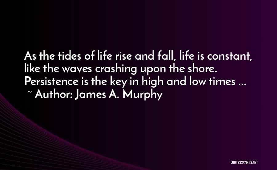 Life Is Like Waves Quotes By James A. Murphy