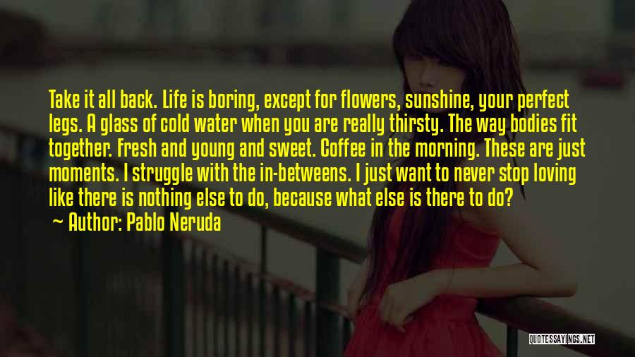 Life Is Perfect With You Quotes By Pablo Neruda