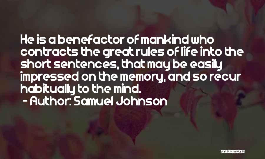 Life Is Short So Quotes By Samuel Johnson